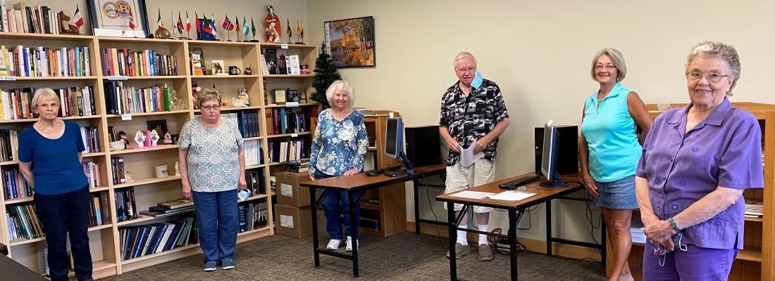 Alice Studt Library Volunteers, Braham Event Center, Braham, Minnesota