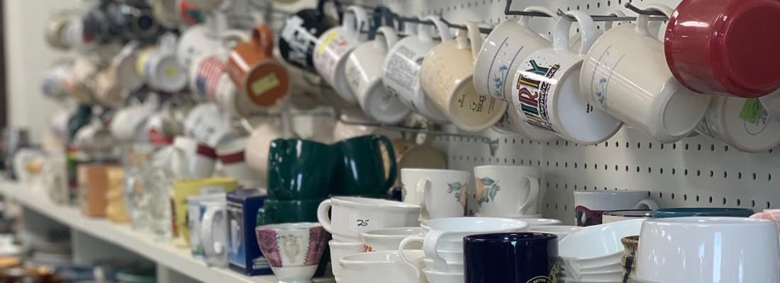 Tusen Tack Thrift Store Dishes, Braham, Minnesota