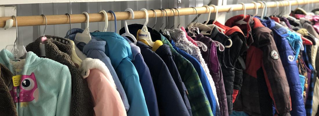 Tusen Tack Thrift Store Coats for Kids, Braham, Minnesota